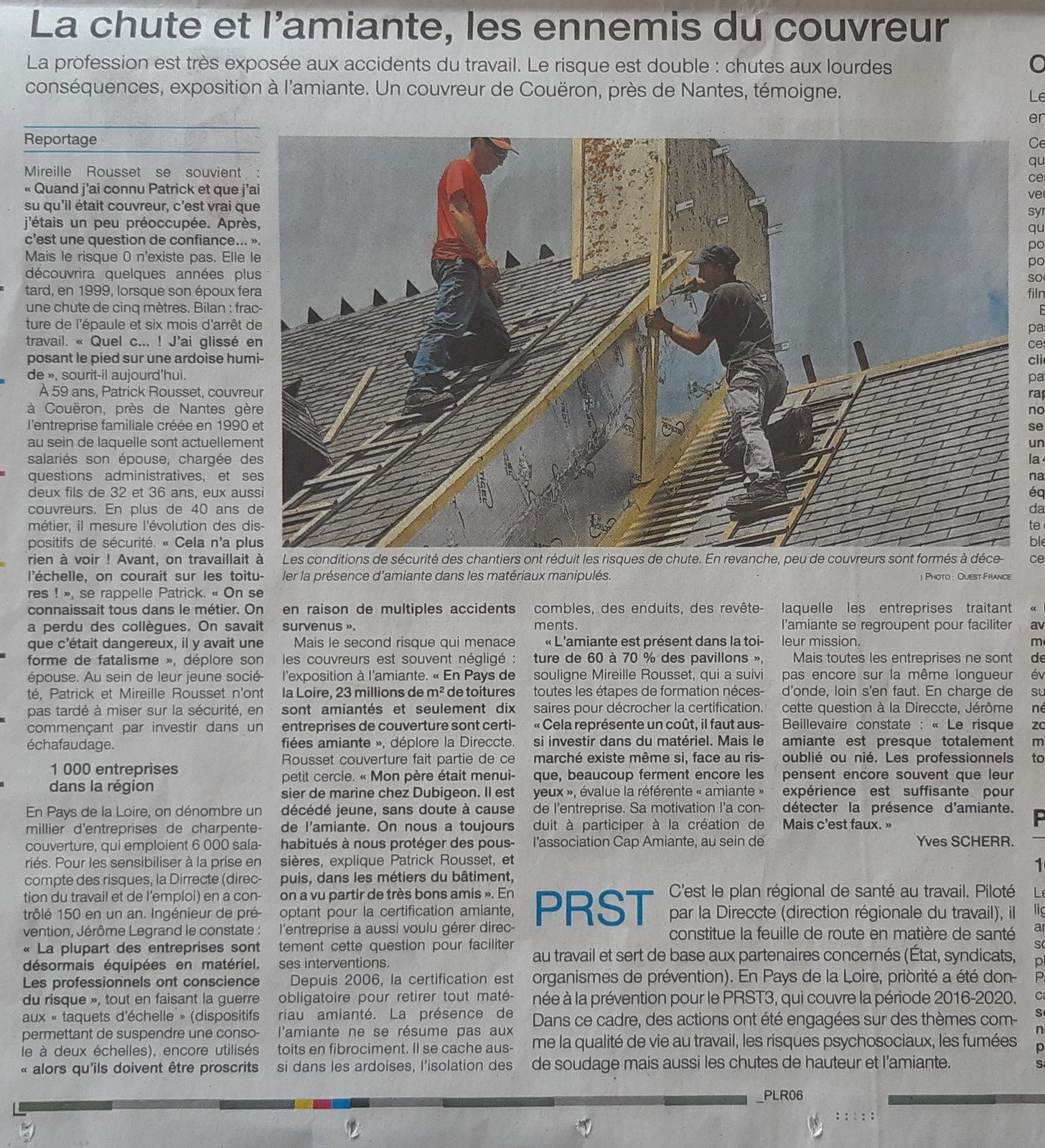 article ouest-france du 20/07/2019
