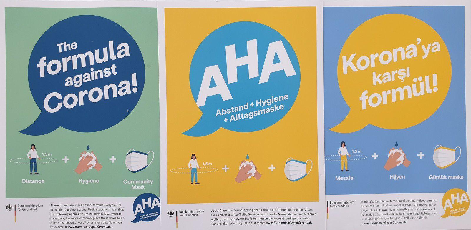 affiches allemandes en 3 langues