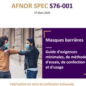 réaliser des masques en tissus - AFNOR SPEC S76-001 - Santé-Sécurité et Qualité de vie au travail par safetyfirst et GRIPHE.